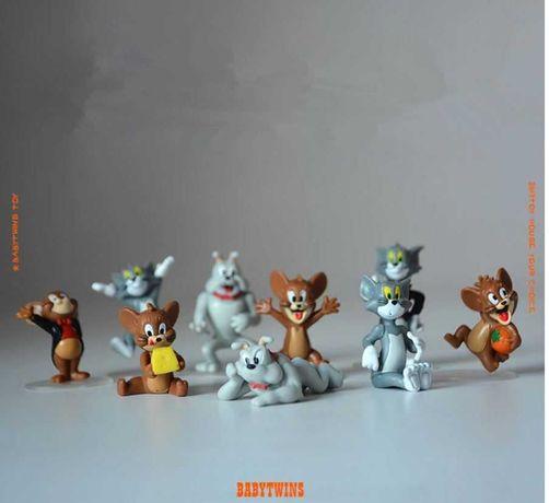 Figurine tort foarte mici Tom si Jerry_originale_3-4 cm