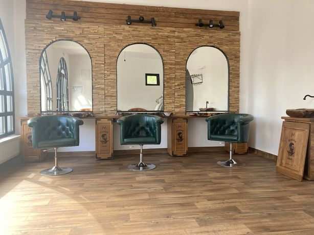 Mobila coafor barber frizerie lemn masiv