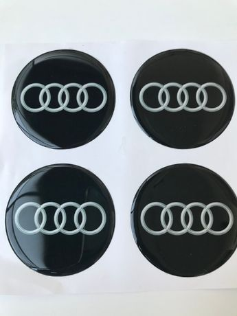силиконови стикери за капачки на джанти Ауди/Audi размери 40мм до 90м