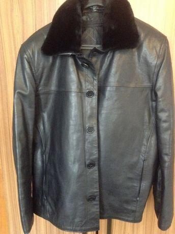 Чисто ново яке от естествена кожа, размер L