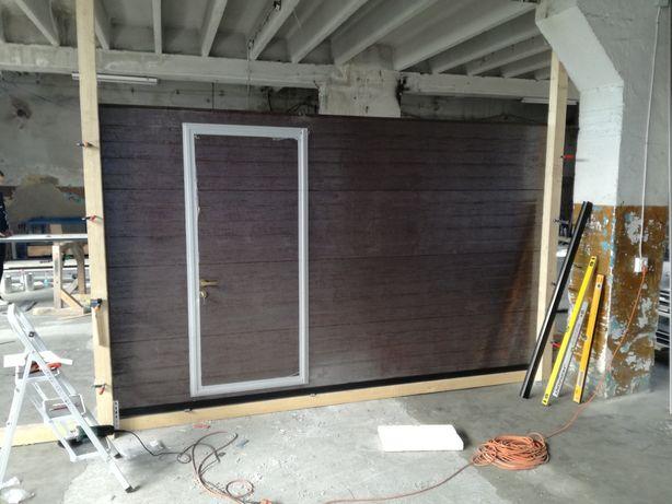 Usa de garaj cu acces pietonal 3200x2150 maro