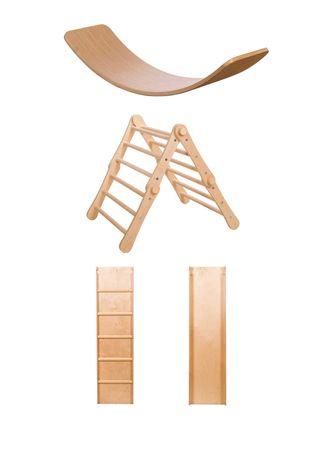 Баланс борд + Модифициращ триъгълник на Пиклер + пързалка