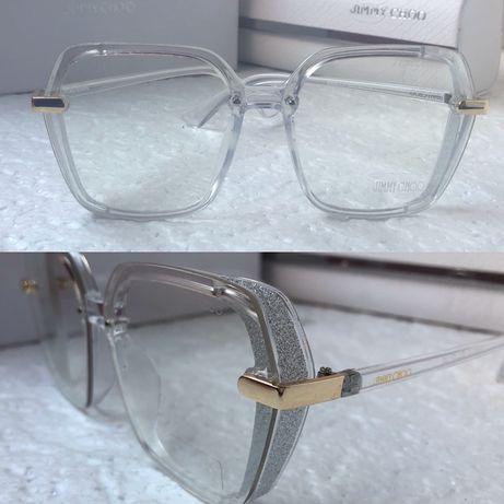 Jimmy choo прозрачни  слънчеви очила с лого