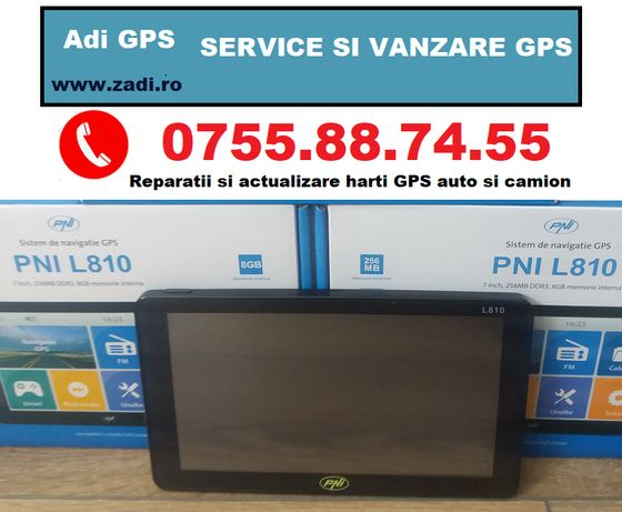 "GPS camion 7"" - 256 ram - 8gb- modulator FM-garantie si harti noi"