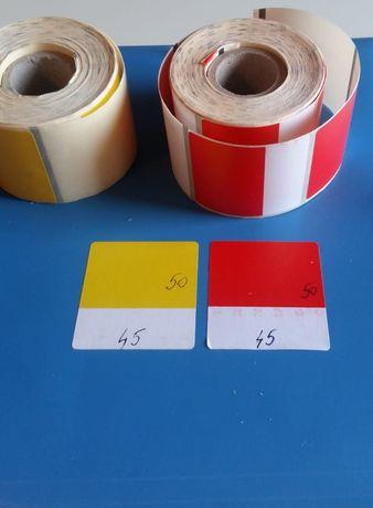 Etichete autocolante (autoadezive) , in 2 culori, transfer termic