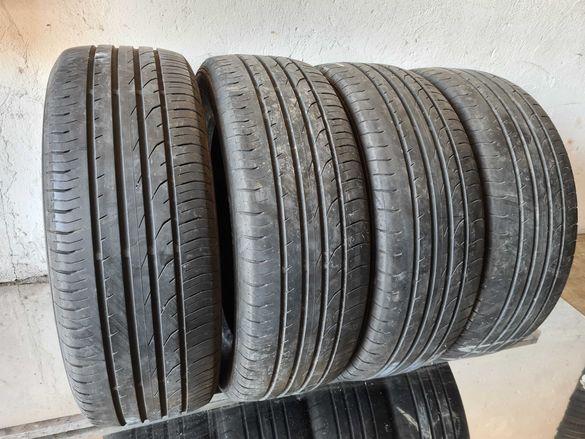 4 бр. летни гуми  215/55/18 Continental DOT 3613 3x5 mm 1x4 mm