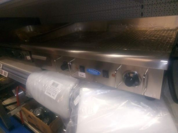 Grill electric inox,plita gratar 80x50cm neted-striat nou-sigilat