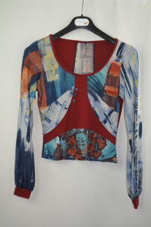 Bluzita bluza top cu maneca lunga Save the Queen Desigual marimea S P4
