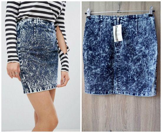 ASOS Denim Skirt in Blue-НОВА дамска дънкова пола