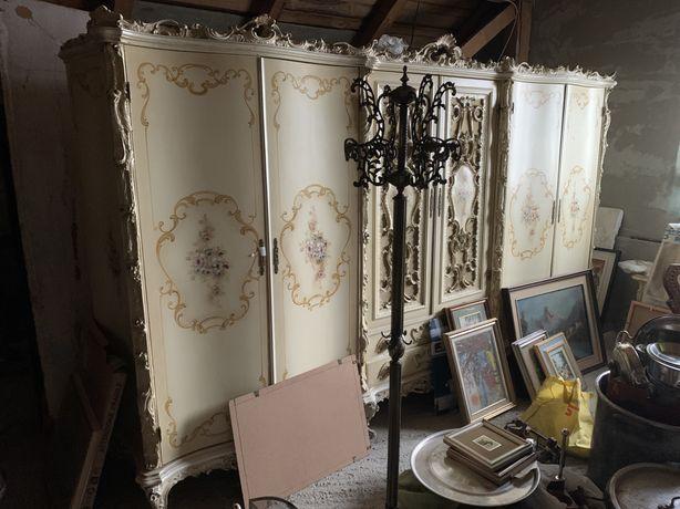 Dormitor stil baroc,lemn masiv, deosebit, import italia