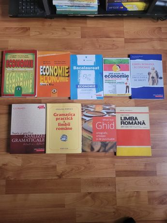 Vand carti pentru admitere la drept/ gramatica si economie