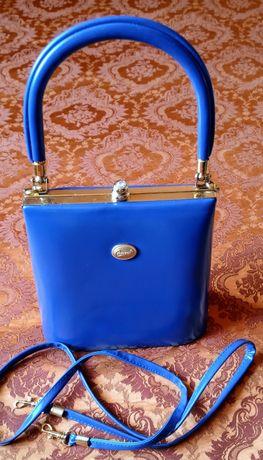 Geanta albastra și plic grena-caramiziu , stare foarte buna