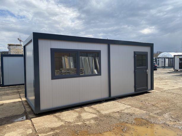 Container birou izolat ieftin sanitar organizare santier