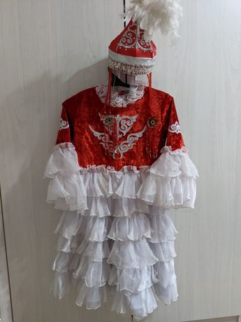 Казахское национальное платье и костюм на 9, 10, 11, 12 лет