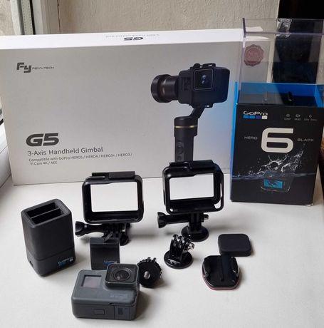 Экшн камера GoPro 6 Hero Black + 3-х осевой электронный стабилизатор
