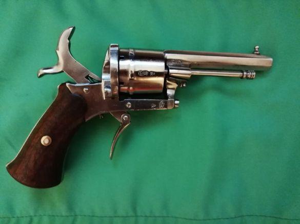 Револвер Лефуше. 1864г. 7мм.пистолет белгийски старинен автентичен