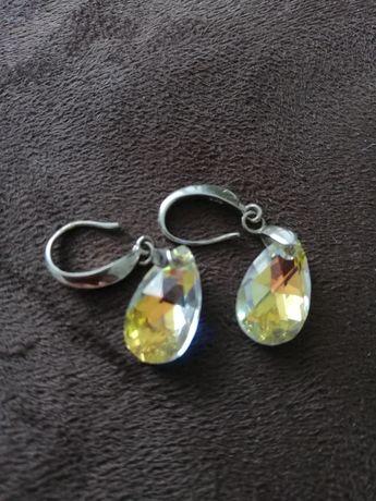 Сребърни обеци с камъни сваровски