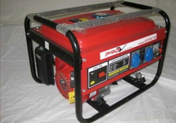 3.5kw Бензинов Генератор за ток, монофазен агрегат за ток