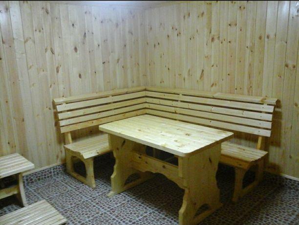 Баня на дровах березы