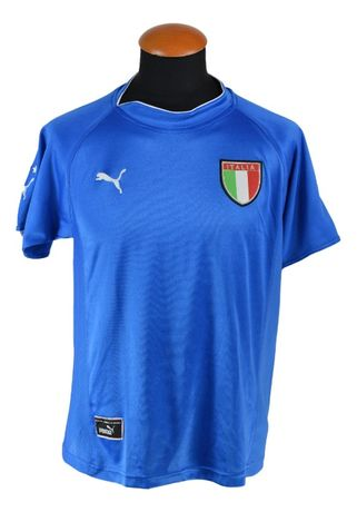 """Tricou Puma Totti """"20"""" Italy 2001 Marimea S Albastru OO53"""