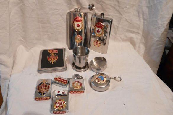 СССР-символика: запалки,табакери,флашки