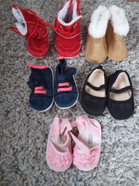 Lot 5 buc. pantofiori, ghete, sandale nou nascut, mar.16