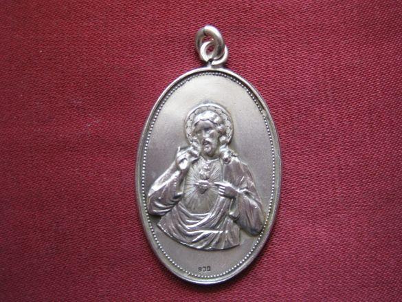 """Сребърен папски медальон за """"Здраве и късмет"""""""