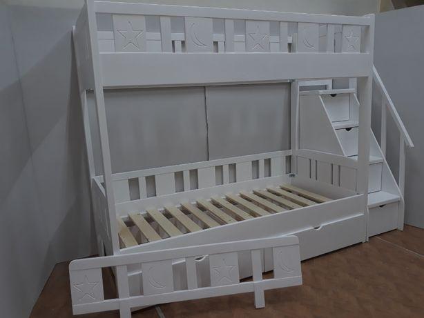 TRANSPORT GRATUIT.Pat etajat din lemn masiv cod 2601