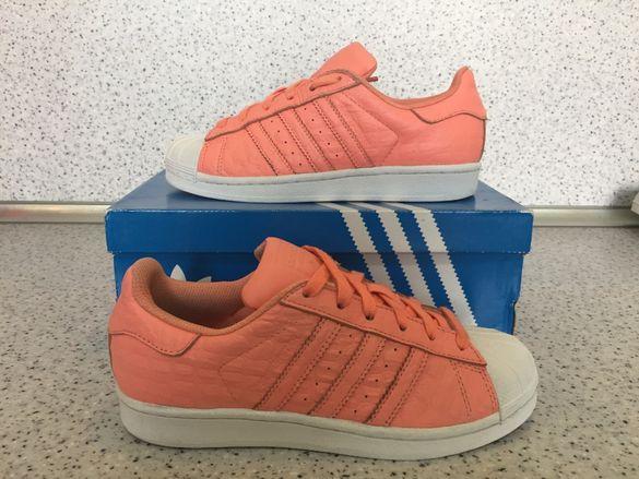 Adidas Originals Superstar Coral & White
