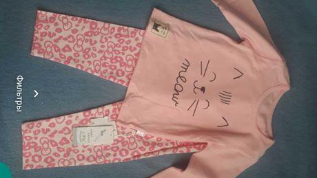 пижама для девочки. НОВАЯ