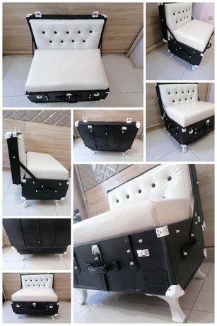 Ретро куфар, стол, диван, фотьойл, канапе