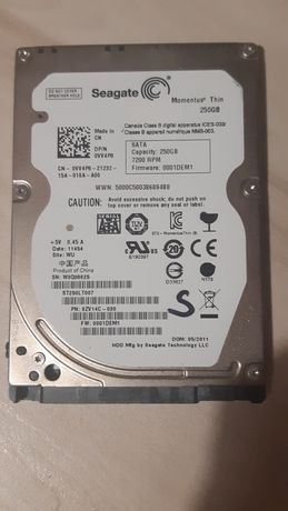 """Vand HDD LAPTOP 250Gb 2,5"""" S-ATA – Seagate"""