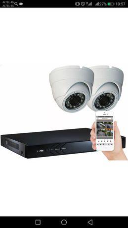 Установка видеонаблюдения и пожарной сигнализации