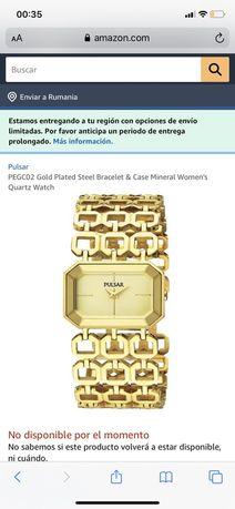 Ceas dama Pulsar (by Seiko), placat cu aur