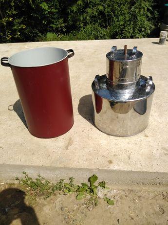 Cazane de tuica de inox și cupru 65 litri  toată instalațiea