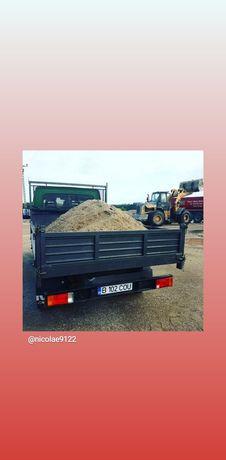Transport agregate balastiere, pămînt chișai, moluz, lemne