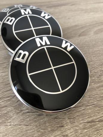 Капачки за джанти БМВ/BMW 68 мм в тотал черно