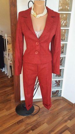 Costum stofa rosu ruginiu cu pantalon 3/4 M nou