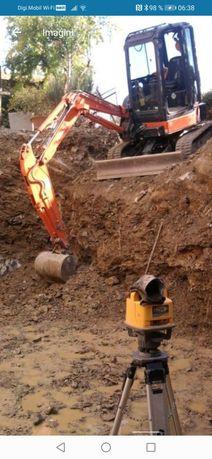 miniexcavator excavator Sapaturi,nivelari,demolari,fundatii,moloz
