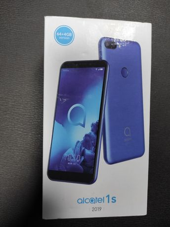 Alcatel 1S (2019 ), Dual SIM , 64GB , 4GB RAM 4G , Metallic Blue - NOU
