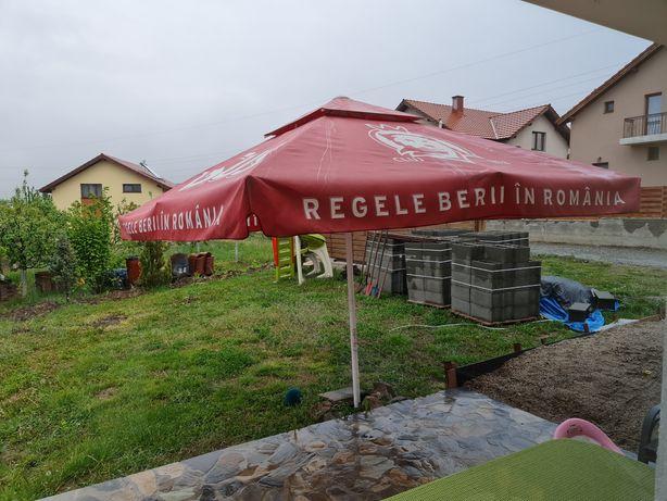 Vând umbrelă terasă mare 4×4m(horeca) profi!