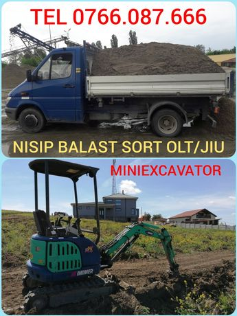 IEFTIN Nisip, Balast, Sort,Piatră, Transport basculabil, MINIEXCAVATOR
