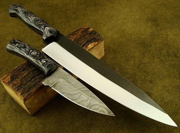 Cuțit de bucătărie din oțel 1095 cu o lungime de 32 cm.