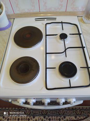 Продам электро-газоавую плиту