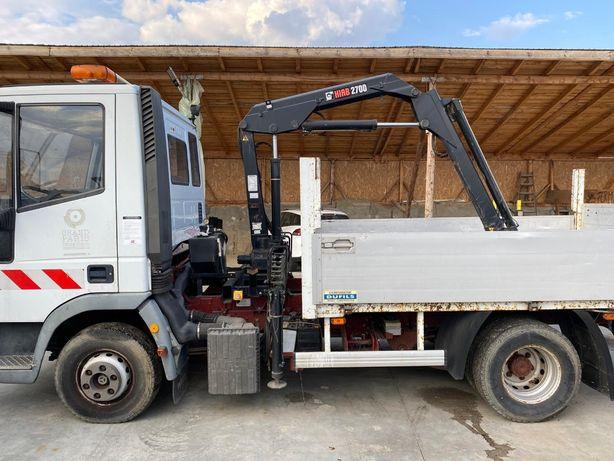 Camion Iveco cu Macara MAB 900 Kg