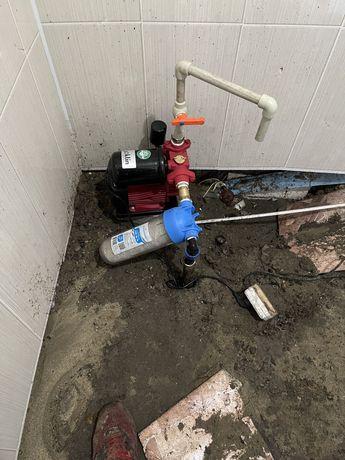 Бурение скважин в доме, водопровод