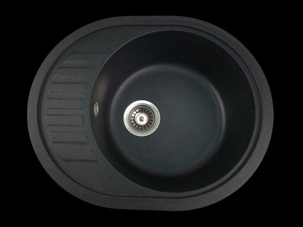 Chiuveta ovala granit bucatarie MIXXUS Picurator mic, NEGRU lavoar