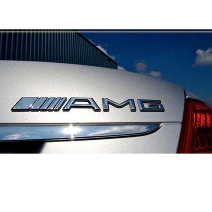 AMG емблема за багажник на Mercedes Benz - Бял Хром АМГ чисто нови