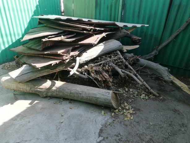 Отдам дрова даром + немного железа с крыши