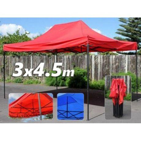 Голяма сгъваема шатра хармоника 3х4,5 м. - зелена,синя,червена